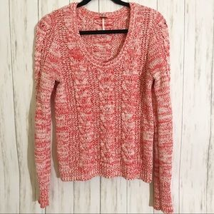 Free People Cable Knit Sweater   Size L